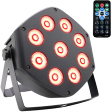 Stage Par Light 9x10W LED Stage Light DMX and Remote Control Lights for Wedding