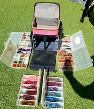 Mark Pack Sport Ranger Tackle Bag with 6 Boxes & Roughly Over 800 Rubber Baits!