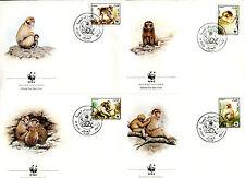 4 Briefe FDC Algerien 1988 WWF Berberaffen Nr: 972 - 975 o C_064
