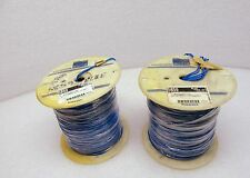 Alpha 5859 14 AWG Silver Plated TFE Hookup Wire Blue 1000' MIL-W-16878E One Roll