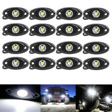 White LED Rock Light 16 pods Lights for Off Road Truck Car ATV 4X4 Under Wheel