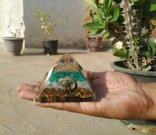 Extra Large 60-65MM Multistone Chakra Orgonite Natural Crystal Orgone Pyramid