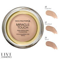 MAX FACTOR MIRACLE TOUCH FOUNDATION, SPF 30 & Hyaluronic Acid *IMPROVED FORMULA*