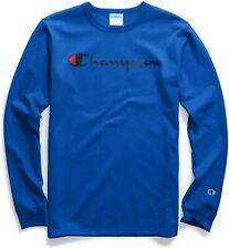 Champion Men's Heritage Script Graphic Long Sleeve T-Shirt - L - Surf The Web