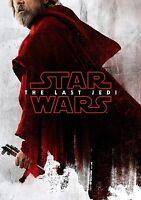 The Last Jedi LUKE Character Poster Star Wars NEW Dec 17 FREE P+P CHOOSE UR SIZE