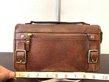 Fossil Large Brown Leather clutch Wallet