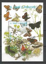 Papillons Saint Thomas et prince (37) bloc oblitéré