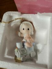 NIB Precious Moments Babys 1st First Christmas Ornament 2006 boy Train 610006