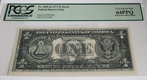 "$1 1975 St.Louis ""FULL FACE TO BACK OFFSET""  ERROR PCGS -VCN 64PPQ Fancy # !"