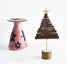Rústico de Madera de Palo de árbol de Navidad Ornamento de Navidad Festivo Decoración-este de la India