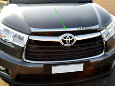 Chrome Hood Bonnet Lip Molding Trim Protector Garnish for Toyota Kluger 2014-16