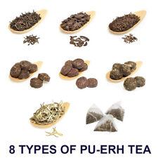 8 Types of PuErh Slimming, Detox Red Tea - Thick Leaf, Yunnan, Pu Erh Pu-erh Tea