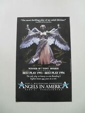 Angels in America Poster – Signed by Tour Cast – Not Reprint – 1984, Scarce