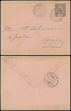 FRENCH IVORY COAST 1897 25c STATIONERY to SWITZERLAND via LIVERPOOL PACKET
