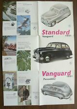 Standard Vanguard Ad Foldout Brochure 1951