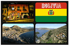 BOLIVIA, SOUTH AMERICA - SOUVENIR NOVELTY FRIDGE MAGNET - BRAND NEW - GIFT