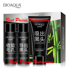 BIOAQUA Blackhead Acne Removal Activated Carbon Bamboo Charcoal 3 Steps Mask Set