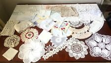 HUGE LOT Lace Doilie's Hankie's All in Great Condition