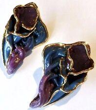 boucles d'oreilles percées vintage création bijou couleur doré or fin 18 k 419