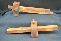 Pair of Vintage  Wooden Marker Tools-STANLEY  No. 71 & Unmarked
