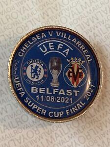 Chelsea V Villarreal Super Cup Pin Badge