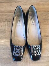 L.K.Bennett Black Patent Court Shoes 7 40