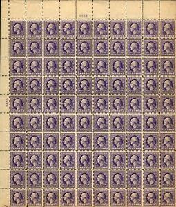 US #529 3c Washington Sheet MNH Perf 11 Type III