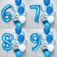 12 Pcs Number Foil Confetti Balloons Baby Shower Wedding Birthday Party Decor