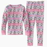 Cuddl Duds Toddler Girl Hello Kitty Thermal Underwear Base Layer