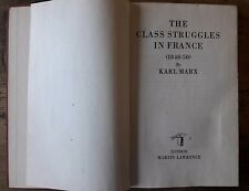Karl Marx  - The class struggle in France (1848-50) Martin Lawrence London CCCP
