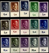 Germany Third Reich Poland Occupation WW2 MNH Adolf Hitler imperf. stamps CV$500