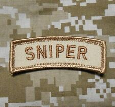 SNIPER TAB USA ARMY MILITARY USA INFIDEL USA DESERT VELCRO® BRAND FASTENER PATCH
