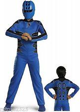 Power Rangers Jungle Fury Blue Ranger Costume Child 10-12 New Large Standard