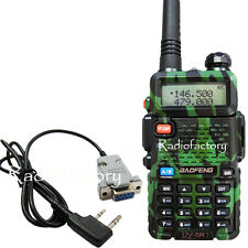 Camouflage BaoFeng Dual band UV-5R Radio 136-174 400-480Mhz+Prog Cable  6-004A