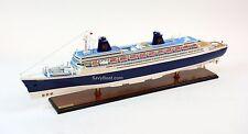 "SS Norway Ocean Liner Handmade Wooden Ship Model 40"""