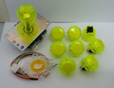 Japan Sanwa Clean Yellow Joystick Button Set of 8 OBSC-30-CY Video Game GT-Y
