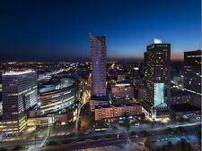 NIGHT PANORAMA OF WARSAW CITY POLAND PHOTO ART PRINT POSTER PICTURE BMP2243B