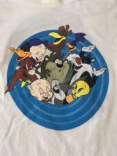 Retro 1991 Acme Clothing Looney Tunes White T-Shirt Size Medium Bugs Bunny Tv Us