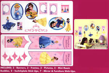 Huge Disney Princess Wall Sticker Decals Room Decor Bell Cinderella Snow White
