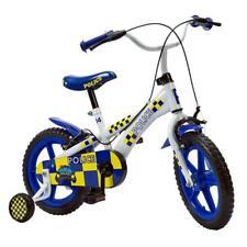 14 Inch Kids First Bike Boys Girls Police Bicycle Blue Stabilisers Steel Frame