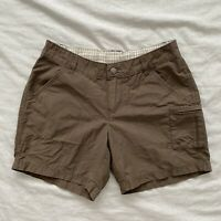 Columbia Womens Cargo Hiking Shorts Brown Size 4