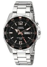 Casio 5373 Super Illuminator Mens Watch -Stainless Band - Day/Date 100M WR - NWT