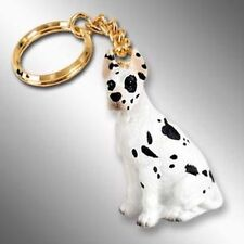 GREAT DANE Harlequin Dog Tiny One Resin Keychain Key Chain Ring