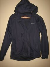 A WOMENS HOODED MOUNTAIN WEARHOUSE WATER PROOF COAT SIZE 8 PIT-PIT APPROX 19""