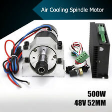 48V 500W ER16 CNC Air Cooling Spindle Motor Brushless+52mm Clamp +Speed  !