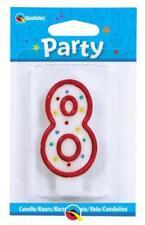 Decoración de color principal rojo cumpleaños infantil para tartas de fiesta