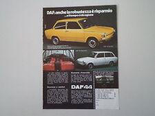 advertising Pubblicità 1973 DAF 44 BERLINA/44 STATIONCAR