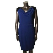 Calvin Klein Atlantis Blue Matte Jersey Sequin Party Cocktail Dress sz 10 BNWT