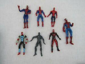Spiderman Action Figure Spidey 1995-2005 Poseable Marvel Toy Biz Hasbro Lot