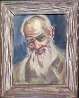 Antique Framed Oil on Canvas Painting 'Old Man Portrait' Collectible Art